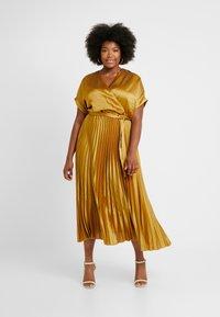 New Look Curves - GO PLEATED DRESS - Day dress - dark yellow - 0