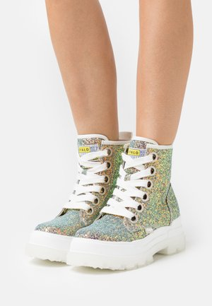 VEGAN ASPHA LACE UP - Plateaustøvletter - multicolor