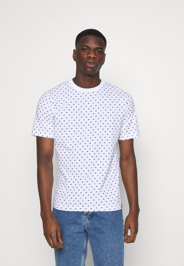 CLASSIC ALLOVER PRINTED TEE - T-Shirt print - white/blue