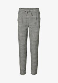 Vero Moda - CHEQUERED - Trousers - grey - 4