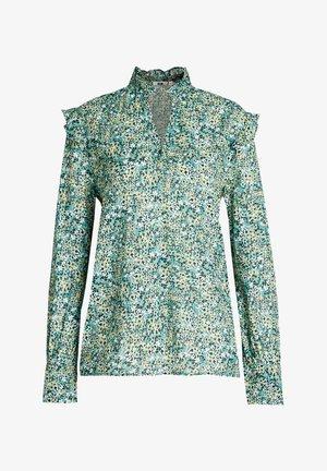 MET RUFFLES - Blouse - turquoise