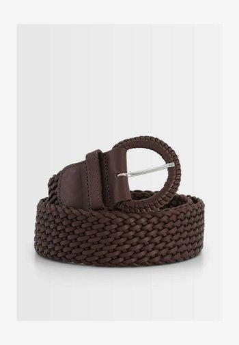 Braided belt - marron chocolat
