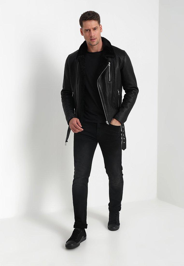 Serge Pariente ROCKER DOUBLE FACE - Veste en cuir - black