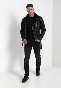 Serge Pariente - ROCKER DOUBLE FACE - Skinnjacka - black - 1