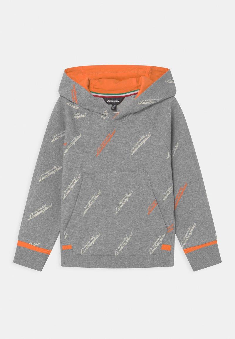 Automobili Lamborghini Kidswear - ALLOVER LOGOSCRIPT HOODIE - Sweatshirt - grey antares