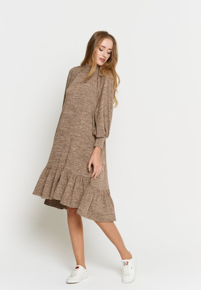 PALIANA - Korte jurk - dunkelbeige