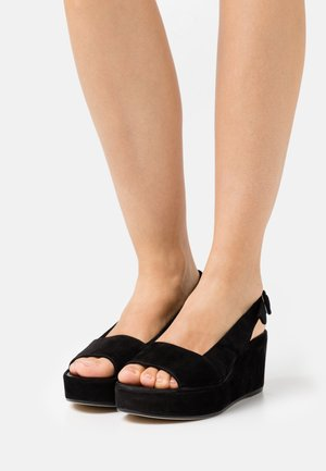 SEASIDE - Sandales à plateforme - schwarz