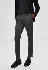 Selected Homme - FLEX FIT HOSE SLIM FIT - Chinos - dark grey - 0