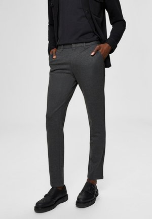 FLEX FIT HOSE SLIM FIT - Chino kalhoty - dark grey