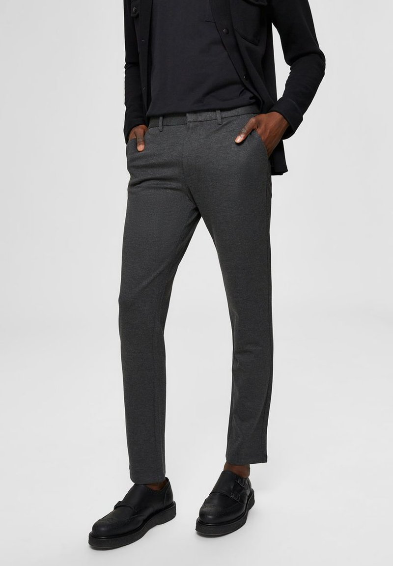 Selected Homme - FLEX FIT HOSE SLIM FIT - Chinos - dark grey
