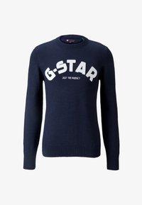 G-Star - VARSITY FELT R KNIT L\S - Trui - sartho blue - 5