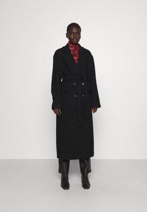 GIACOMO CAPPOTTO PANNO - Klasický kabát - black
