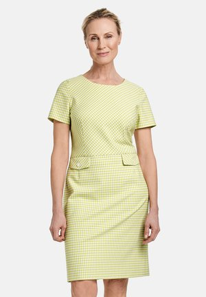 Day dress - light lime off white gemustert
