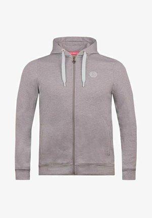KENO BASIC - Zip-up sweatshirt - hellgrau