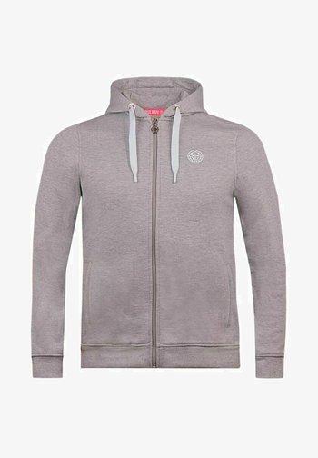 KENO BASIC - Sweater met rits - hellgrau
