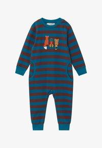 Sense Organics - STRINDBERG BABY ROMPER - Pyžamo - brown/blue - 2