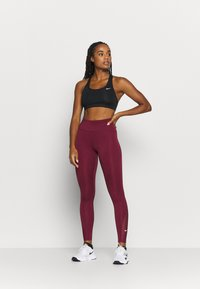 Nike Performance - ONE 7/8  - Leggings - dark beetroot - 1