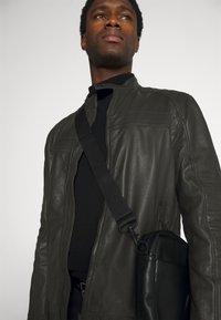 Strellson - DRIVER - Leather jacket - dark brown - 3