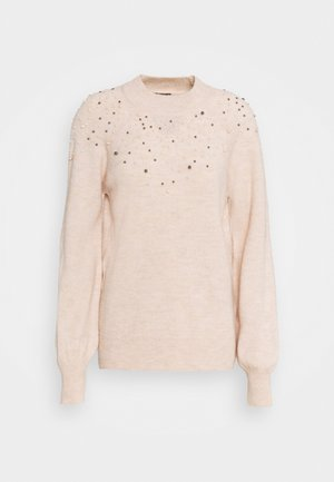 PEARL NECK LOFTY JUMPER - Pullover - blush