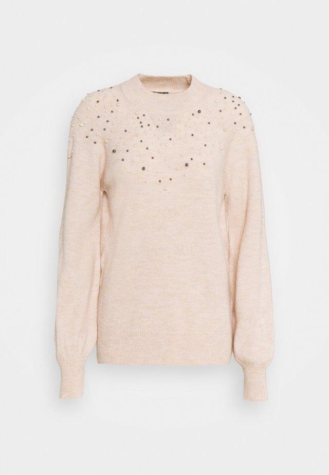PEARL NECK LOFTY JUMPER - Sweter - blush