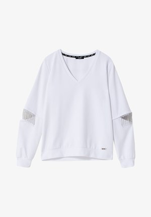 Sweatshirt - white with gemstones