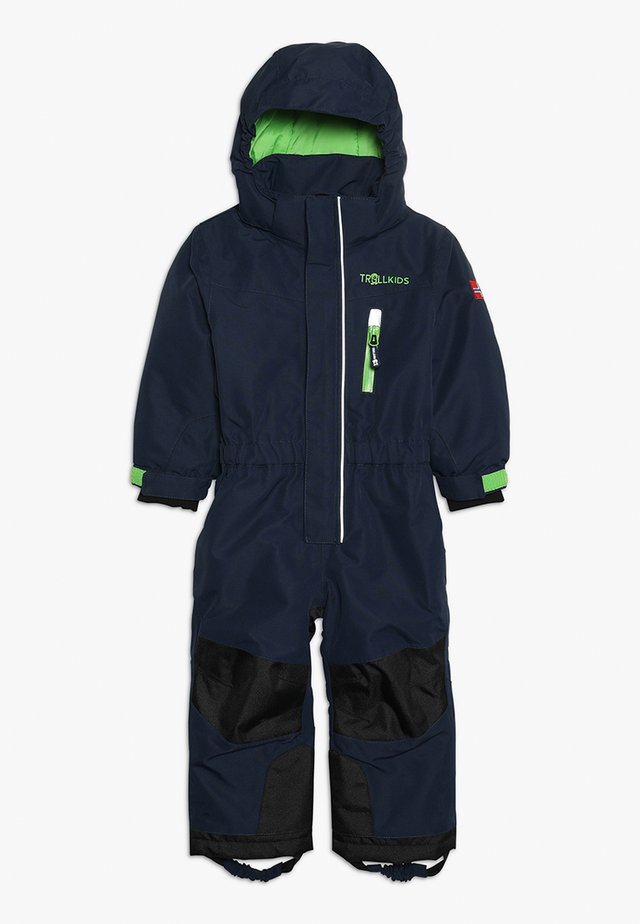 KIDS ISFJORD SNOWSUIT - Snowsuit - navy/green