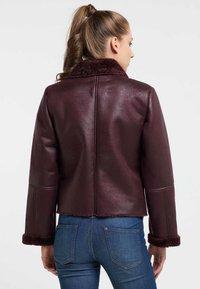 Petrol Industries - Faux leather jacket - zinfandel - 2