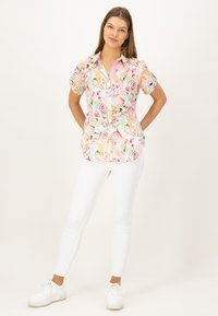 JUST WHITE - Button-down blouse - offwhite druck - 1
