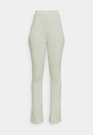 VEGETABLE DYE FLARE PANT - Tracksuit bottoms - mulberry lead green