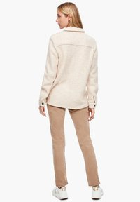 s.Oliver - Button-down blouse - light sand melange - 2