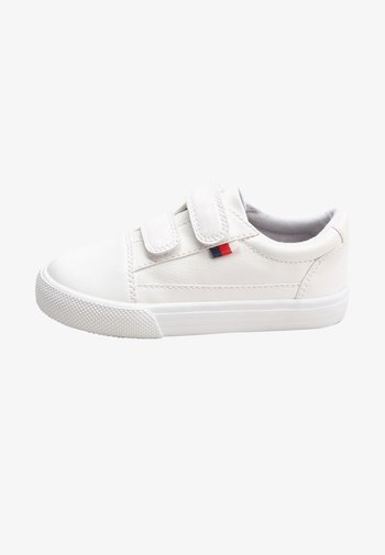 Touch-strap shoes - white