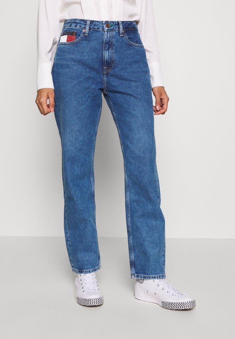 Tommy Jeans - HARPER STRAIGHT - Straight leg jeans - blue denim