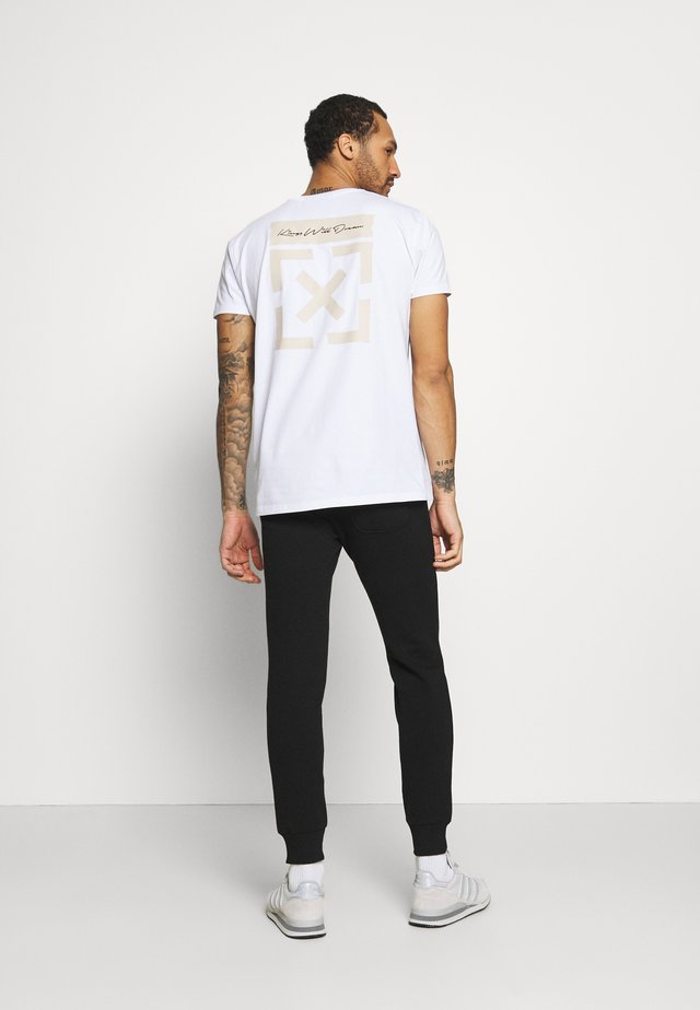 GRINNON - T-shirt con stampa - white