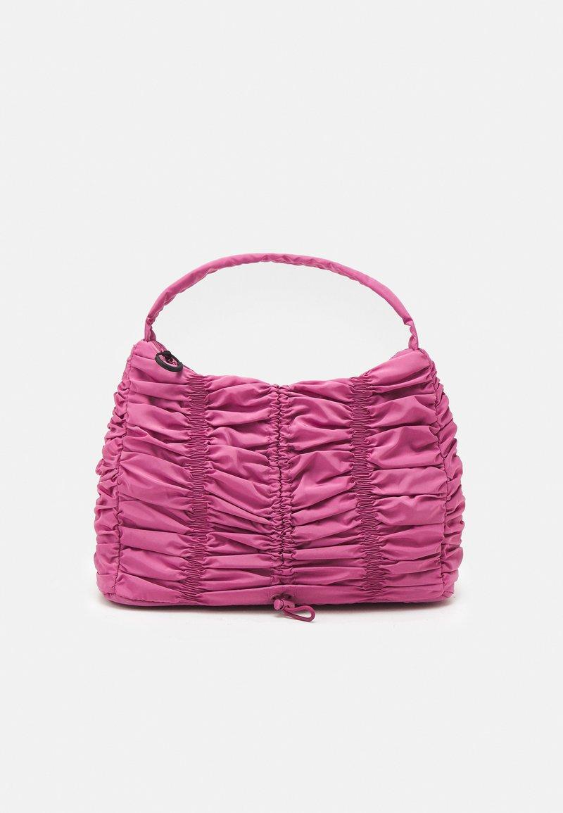 Topshop - RUCHED DRAWSRTING SHOUDLER - Handbag - rasberry