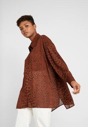 JAN PRINTED - Blouse - brown