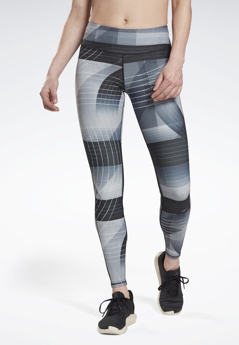 Reebok - RUNNING LUX BOLD LEGGINGS - Leggings - black
