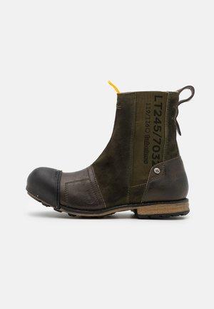 INDUSTRIAL - Cowboy/biker ankle boot - green