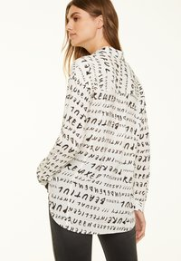 comma casual identity - Button-down blouse - grey graffity aop - 1
