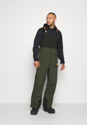 SHELL BIB - Snow pants - black/green