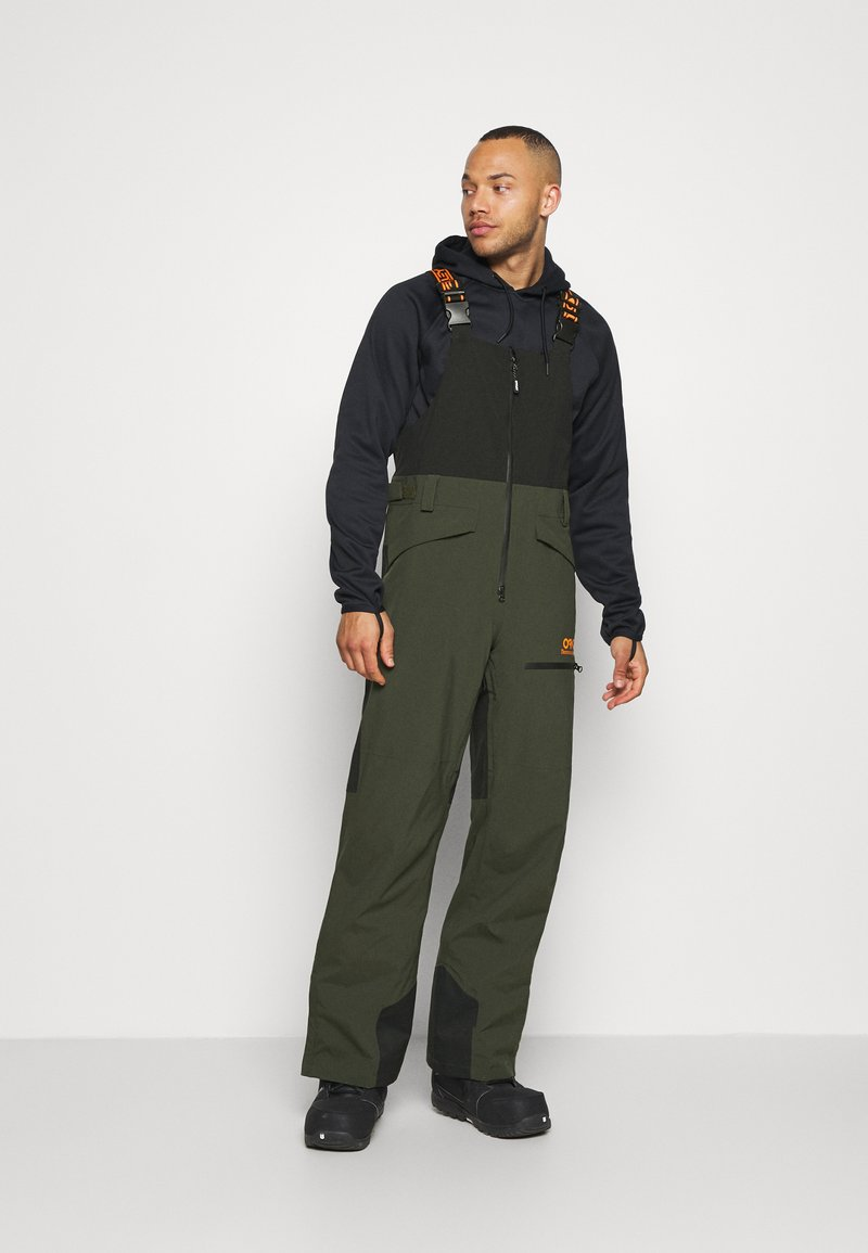 Oakley - SHELL BIB - Snow pants - black/green