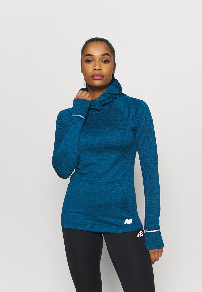 New Balance - HEAT GRID HOODIE - Hoodie - blue