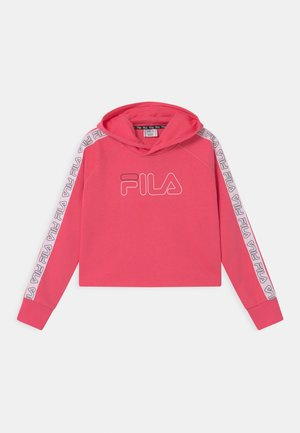 JULICA TAPED CROPPED HOODY - Collegepaita - calypso coral