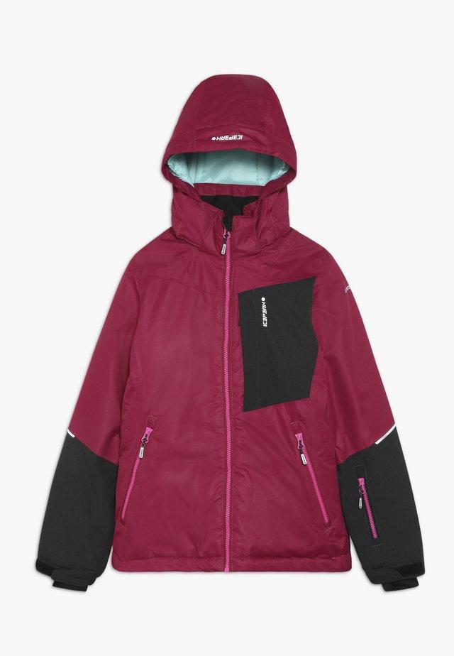 LEEDS  - Veste de ski - burgundy