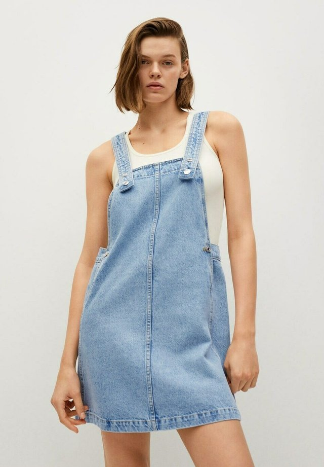 Denimové šaty - mittelblau