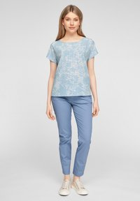 s.Oliver - Print T-shirt - light blue aop - 1