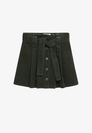 LARISSA - Plisovaná sukně - khaki