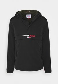 Tommy Jeans - SOLID POPOVER JACKET UNISEX - Windbreaker - black - 0