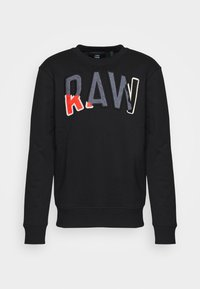 DENIM APPLIQUE  - Sweatshirt - black