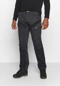 Jack Wolfskin - DOVER ROAD PANTS - Outdoorbroeken - phantom - 0