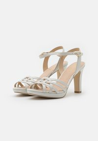 Anna Field - LEATHER - High heeled sandals - white - 2